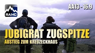 Jubiläumsgrat Zugspitze #9 - Abstieg zum Kreuzeckhaus - Abenteuer Alpin 2013 (16.9)