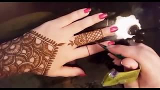 Simple and Beautiful Arabic Mehndi Design