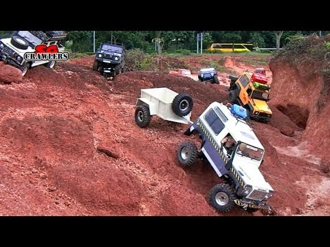 16 Scale RC Trucks Offroad Adventures Jeep Tundra Sand Scorcher Defender trailer - Part 2