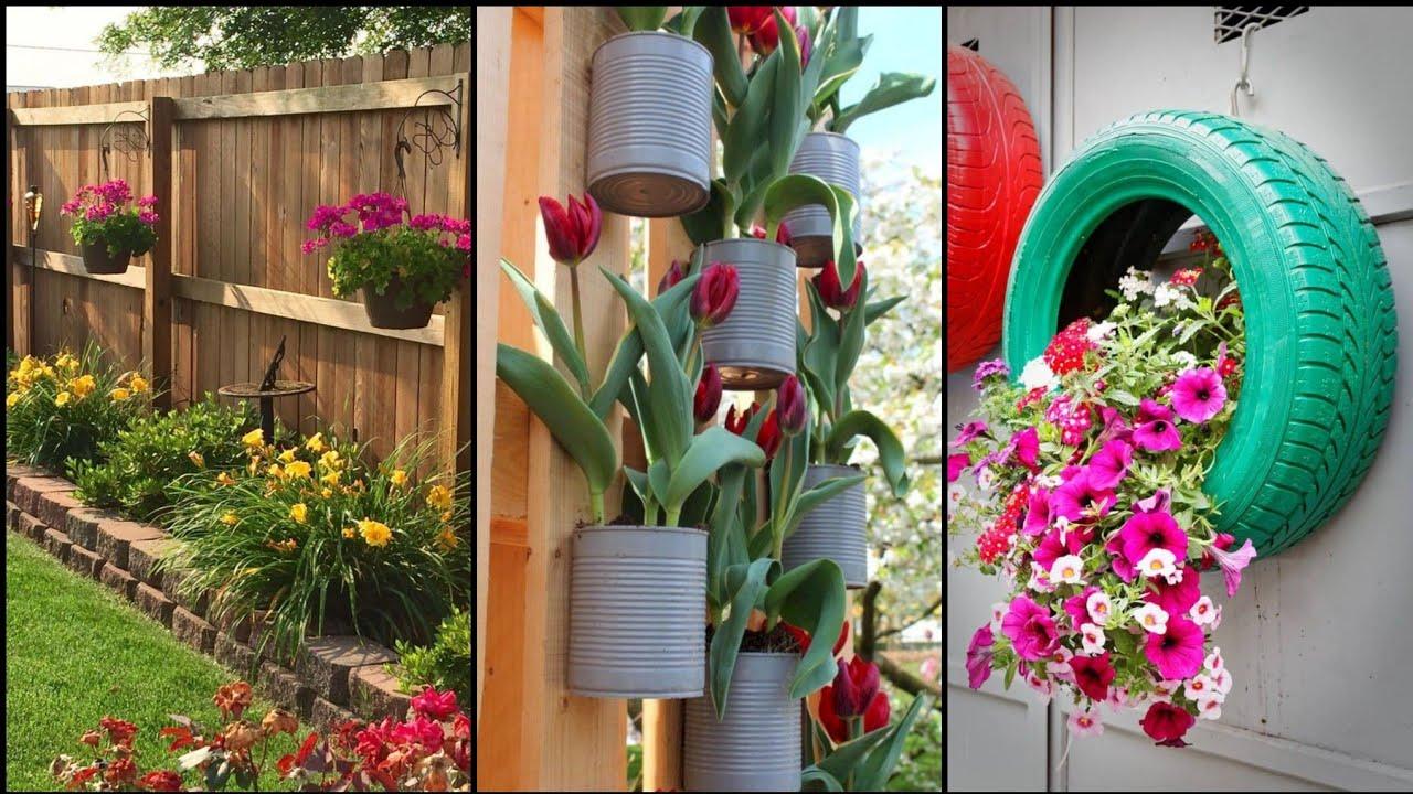 Gardening Ideas For Home  Easy DIY Garden Craft Ideas  Vertical Garden  Ideas  Home Garden Decor