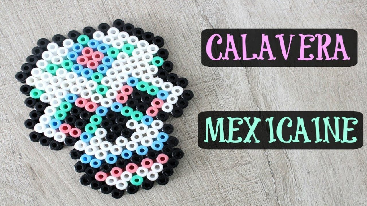 Calavera Mexicaine En Perles à Repasser