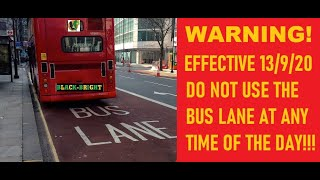 PLEASE DONT GET CAUGHT DRIVING IN A BUS LANE AT ANY TIME!!