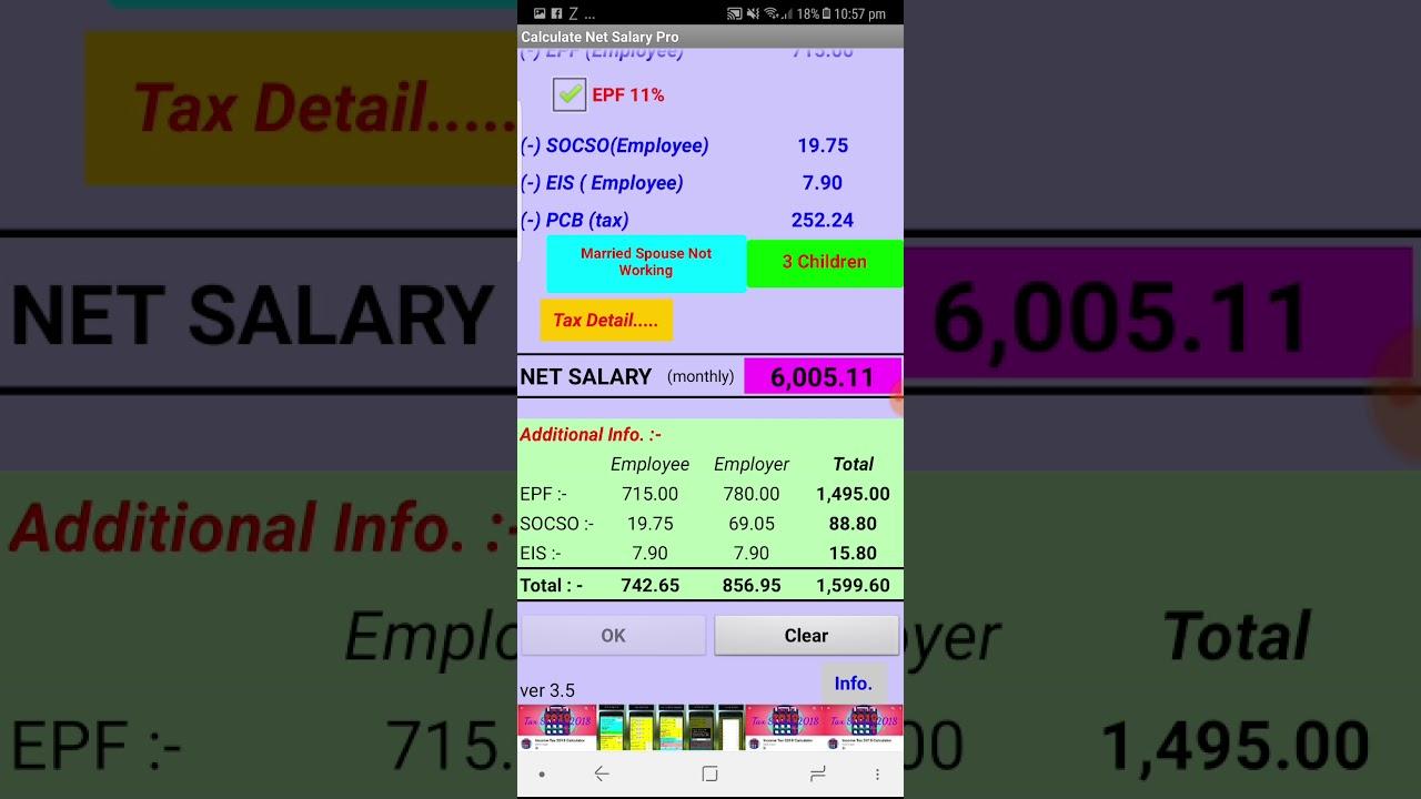 Pro salary calculator.