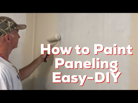 How to Paint Paneling Easy-DIY