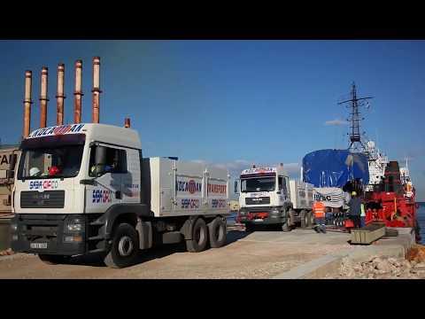 KOCAMAN TRANSPORT 10 X 320 MTONS DIESEL ENGINES TRANSPORT IN LEBANON