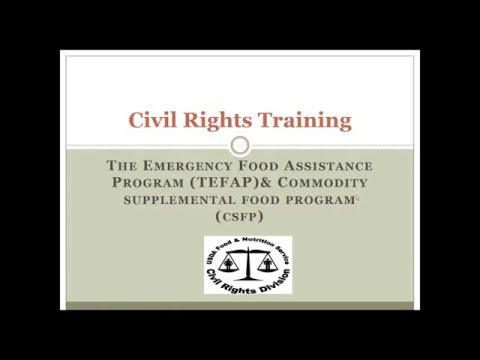 Civil Rights Training CSFP
