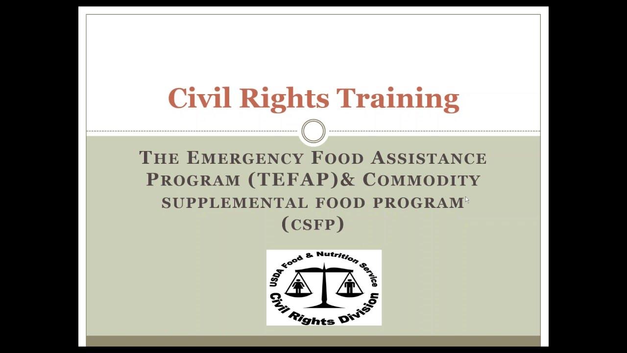 Download Civil Rights Training CSFP