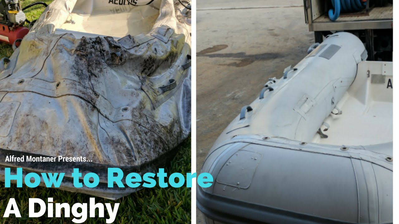 Inflatable Boat cleaning and Repair ( Part 1)
