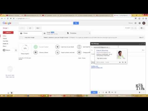 Sending CC or BCC mails using Gmail - Video in Hindi