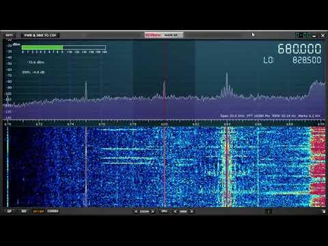 SDRPlay RSP1A: MW DX: CFTR 680 News, 680 kHz Toronto, Ontario, copied in Oxford UK