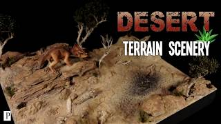 Complete tutorial to make this Rocky Desert Terrain, plus a repaint...
