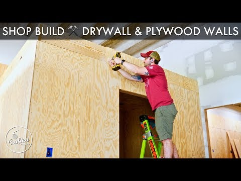 Building My Shop : How To Drywall, Plywood Walls & Fiber Cement Panels
