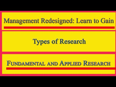 Marketing Research: Fundamental and Applied Research