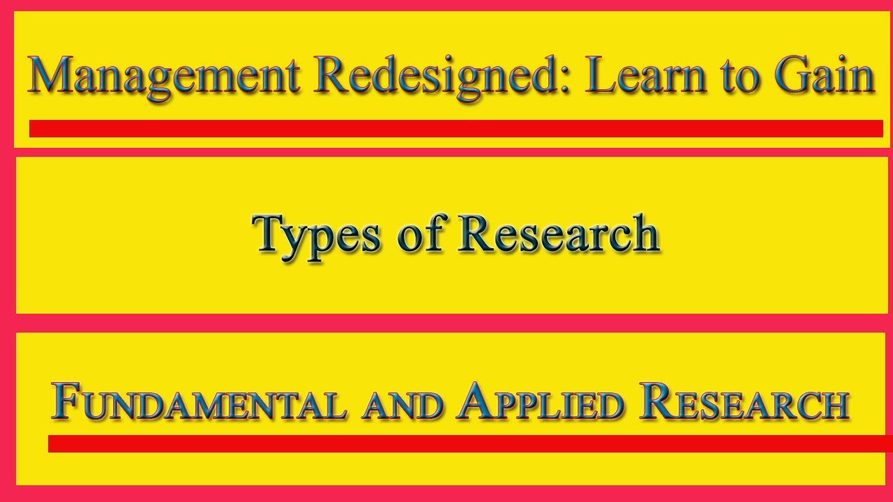 applied research vs fundamental research