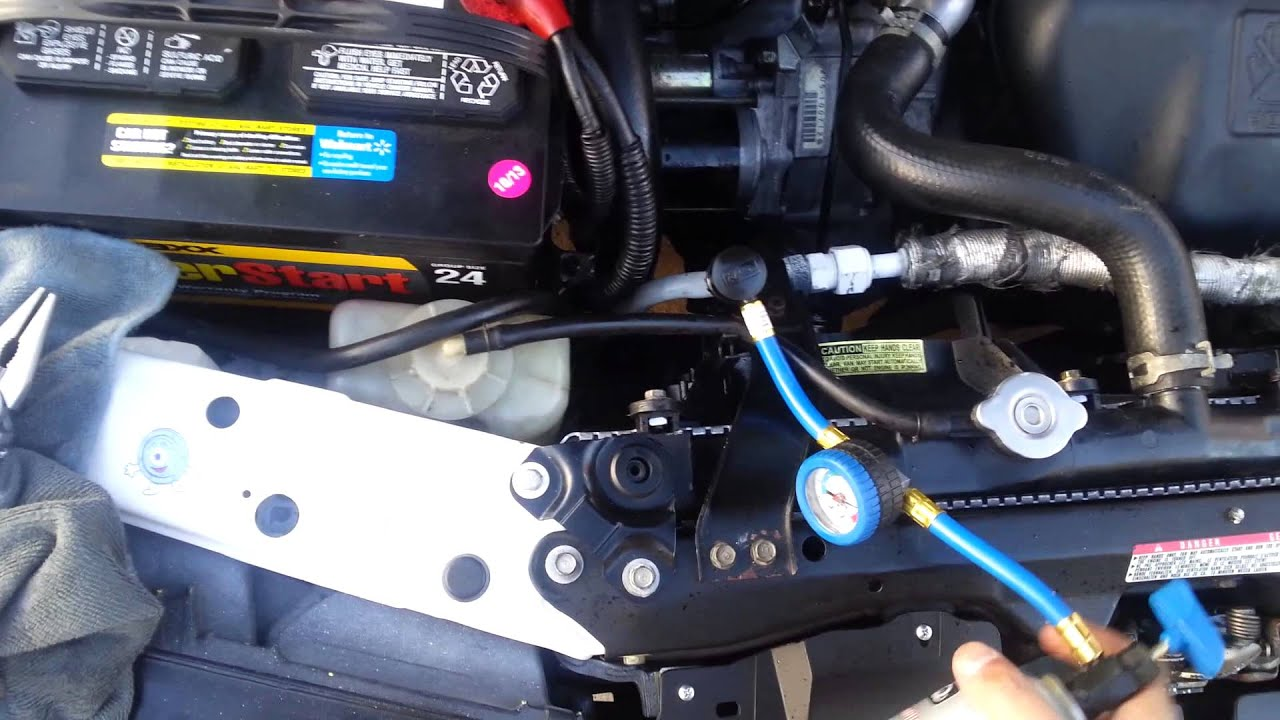 For Type 2 Vw Engine Wiring Diagram How To Recharge Your A C System Winston Buzon Youtube