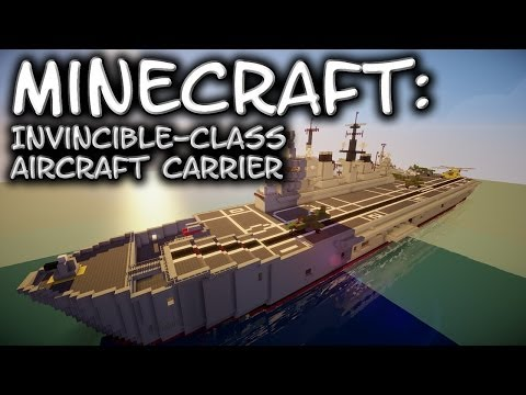 Minecraft: Aircraft Carrier Tutorial (Invincible-Class)