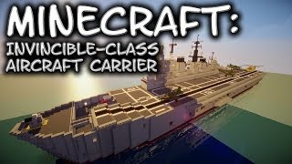 Minecraft: Aircraft Carrier Tutorial (Invincible-Class)