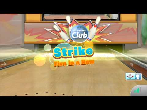 Wii Sports Club - 100 Pin Bowling (3-player online) HD Gameplay