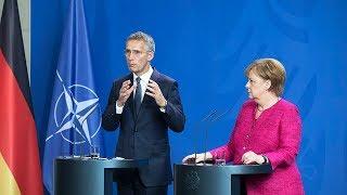 NATO Secretary General with German Chancellor Angela Merkel, 15 JUN 2018