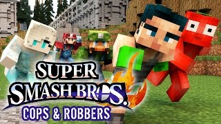 Minecraft Mini-Game: COPS N ROBBERS! (SUPER SMASH BROTHERS!)