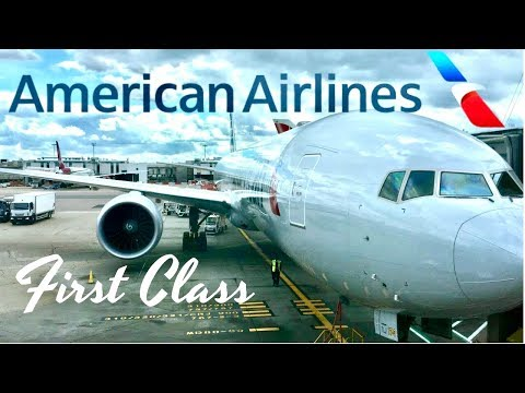 American Airlines First Class London to Los Angeles Boeing 777-300ER