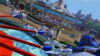 Fantasyland in Kinect Disneyland Adventures - Virtual tour gameplay on Xbox 360