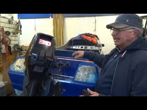 Электроподъём мотора Сеа про на мотолодке Неман  2
