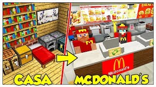 TRASFORMIAMO LA MIA CASA IN MCDONALD'S! - Minecraft ITA