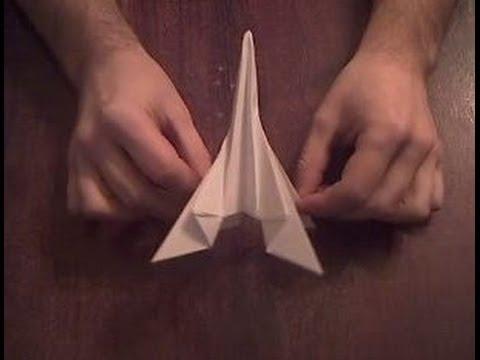 Ракета из бумаги оригами