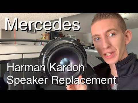 How to Replace Mercedes Harman Kardon Speakers (upgrade and replacement)