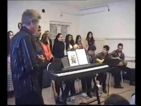 The Gandhi School Choir singing in Alsószentmárton,Hungary. 2010.