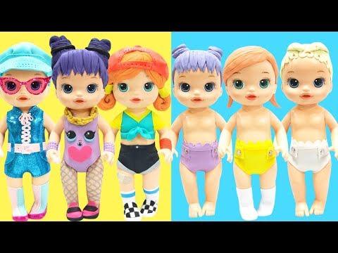 Play Doh LOL Surprise Agent Baby, Sk8er Grrrl, Daring Diva, Lil Agent Baby, Lil Sk8er Grrrl
