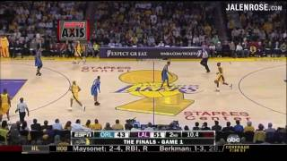 Lakers vs Magic Game 1 Highlights 2009 NBA Finals 6/4/2009 - Kobe Bryant 40 pts - Lakers win 100-75