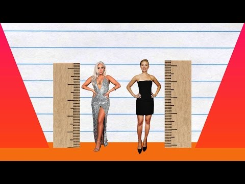 How Much Taller? - Lady Gaga vs Scarlett Johansson!