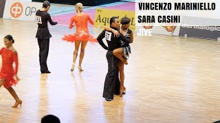 Vincenzo Mariniello and Sara Casini competing at the WDSF Grand Sla...