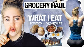 GROCERY HAUL | What I Eat In A Day | Recipes + PULL WORKOUT | Day In The Life