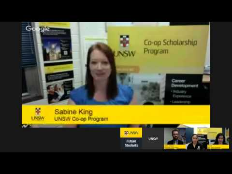 UNSW Scholarships and Co-op Program Google Hangout 2015