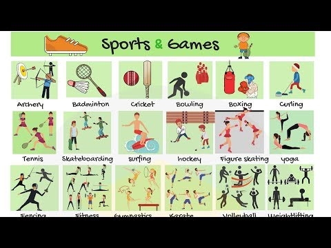 List Of Sports: Types Of Sports And Games In English | Sports List With Pictures