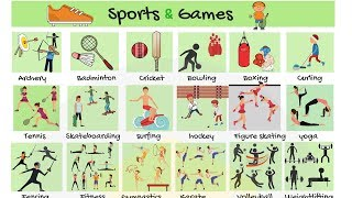 List of Sports Types of Sports and Games in English  Sports List with Pictures