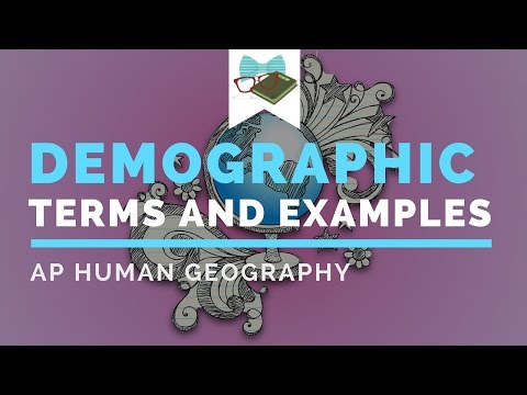 APHuG Key Demographic Terms and Examples