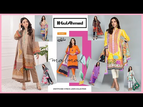 Gul Ahmed Summer Collection 2021 Malmal Lawn Suit Fashion Trends #Sam