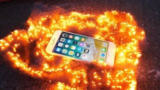 Can an iPhone 8 Survive Flaming Steel Wool?