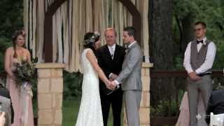 Kaylen and Ryan Dallas Wedding Videographer, Poetry Springs in Poetry, TX