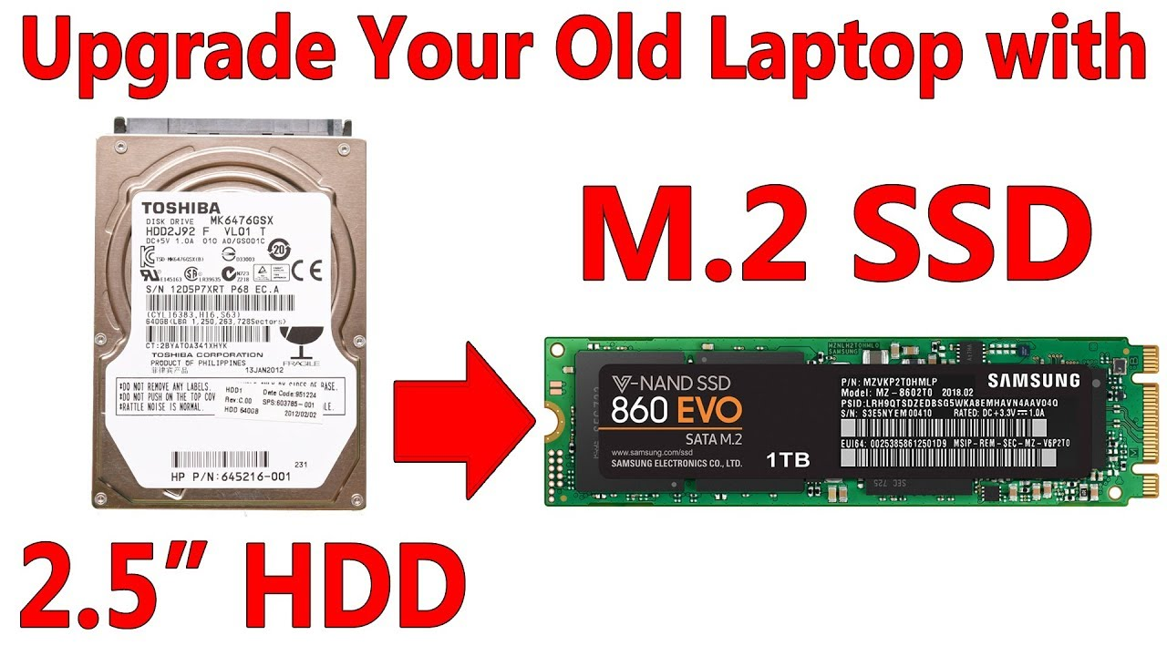 Upgrade Your Old Laptop S 2 5 Hard Drive To A New M 2 Sata Ssd Youtube