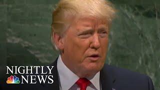 "President Donald Trump Defends ""America First"" Agenda At UN | NBC Nightly News"