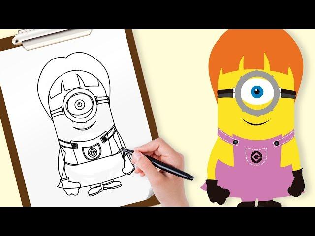 Aprender a dibujar Minions   Pintar Minions   Vídeos infantiles