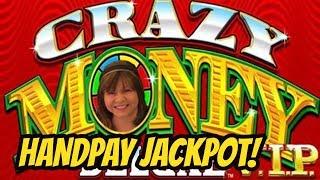 JACKPOT HANDPAY WIN! CRAZY MONEY VIP SLOT MACHINE