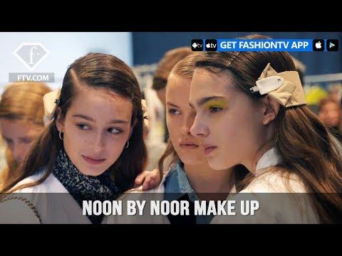New York Fashion Week Fall/Winter 18 19 - Noon by Noor Make up | FashionTV | FTV