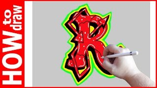 How to draw Graffiti Letters, R № 1