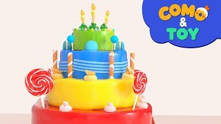 Como and Toys | Colorful Cake | Learn colors | Cartoon video for kids | Como Kids TV